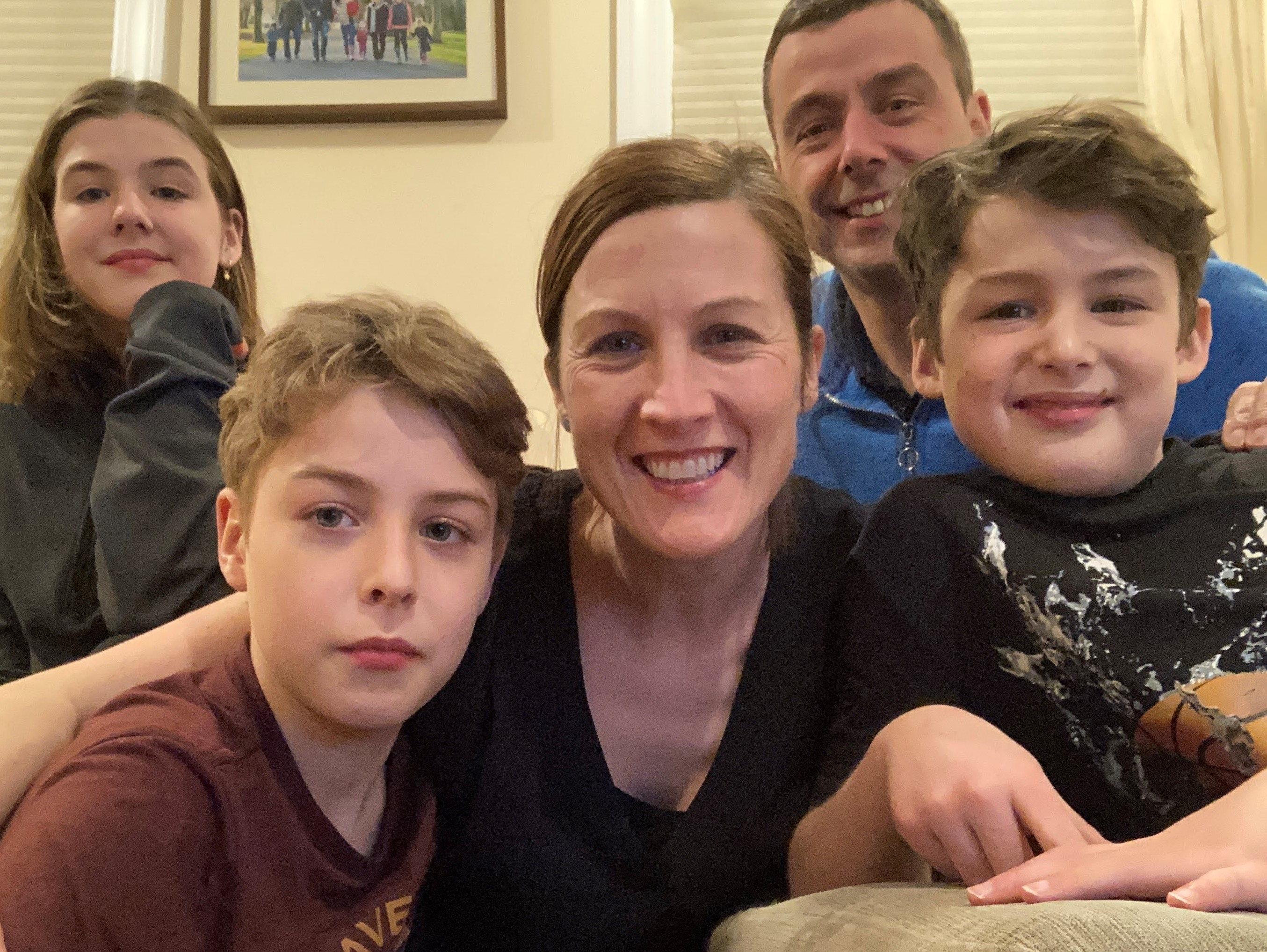 Photo of Felicity Beal with her family members