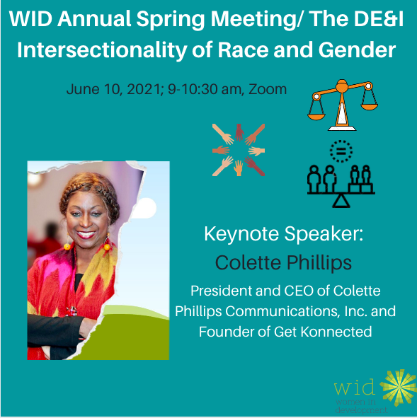 Event flier for WID's Annual Spring Meeting